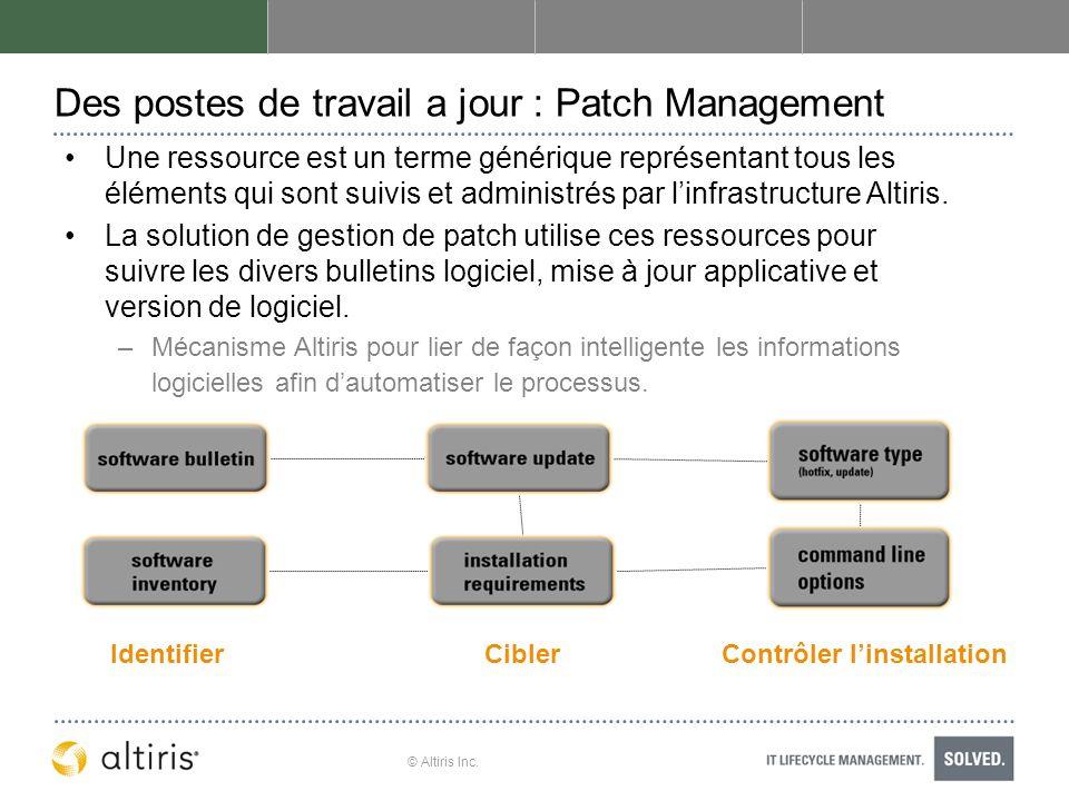 Des postes de travail a jour : Patch Management
