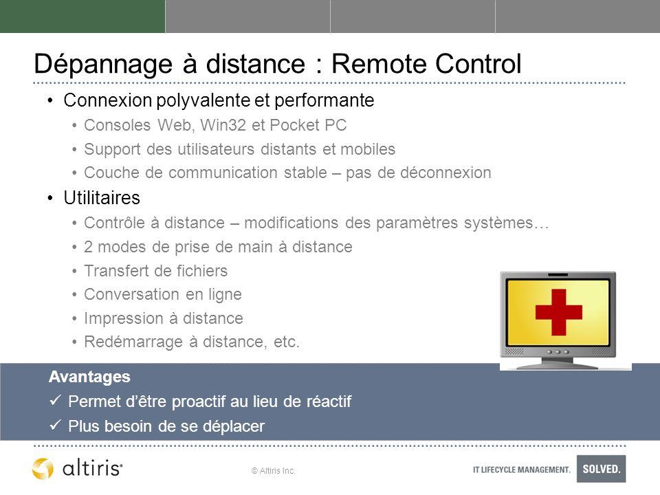 Dépannage à distance : Remote Control