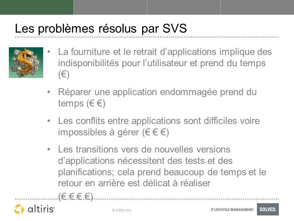 Les problèmes résolus par SVS