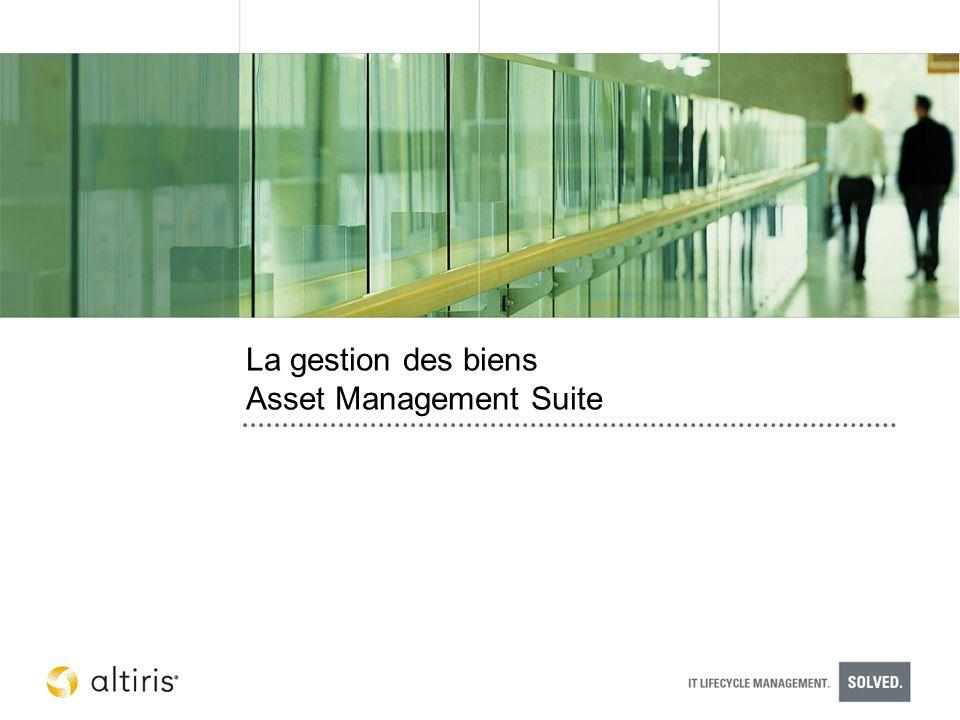 La gestion des biens Asset Management Suite