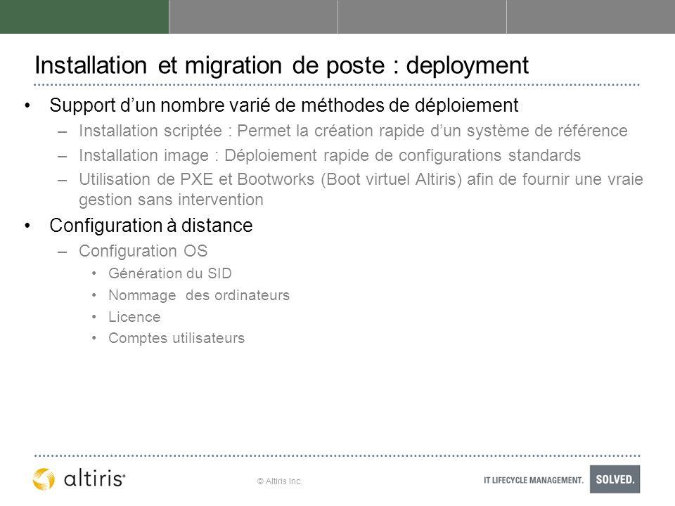 Installation et migration de poste : deployment