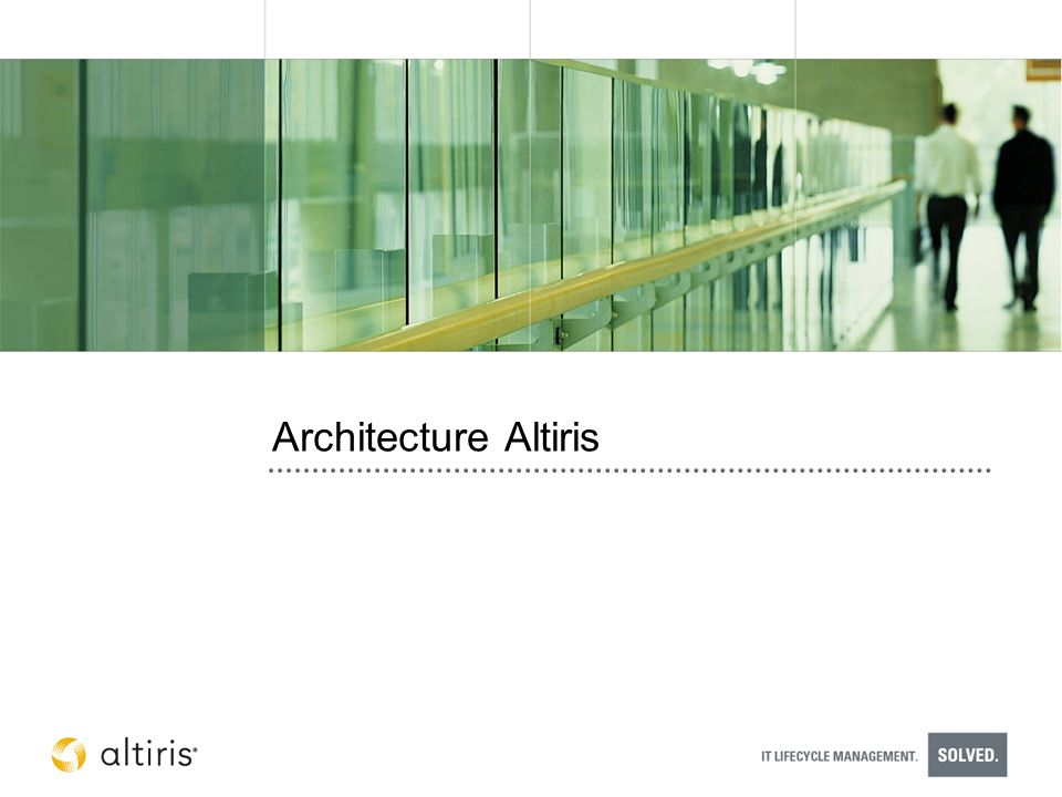Architecture Altiris