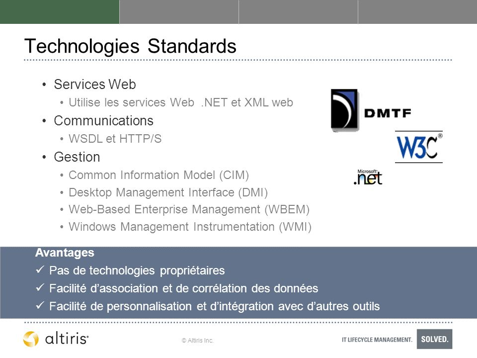Technologies Standards