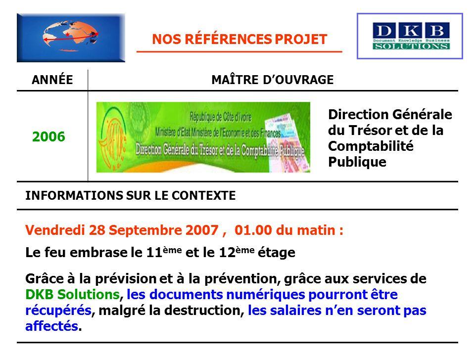 Direction Générale du Trésor et de la Comptabilité Publique 2006