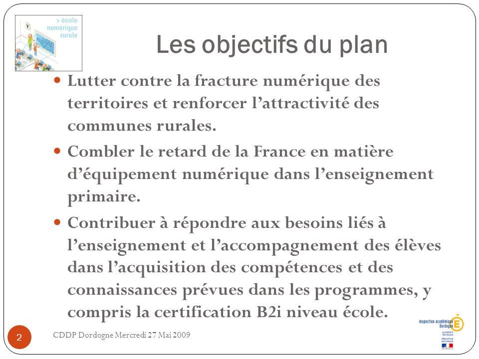 Les objectifs du plan Lutter contre la fracture numérique des territoires et renforcer l'attractivité des communes rurales.