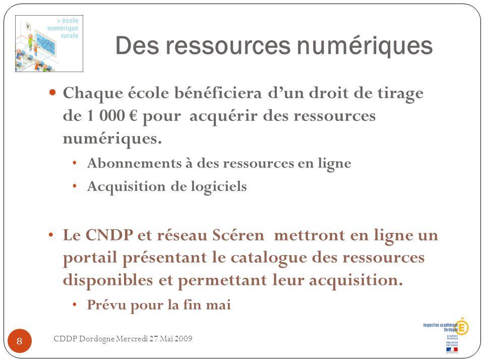 Des ressources numériques