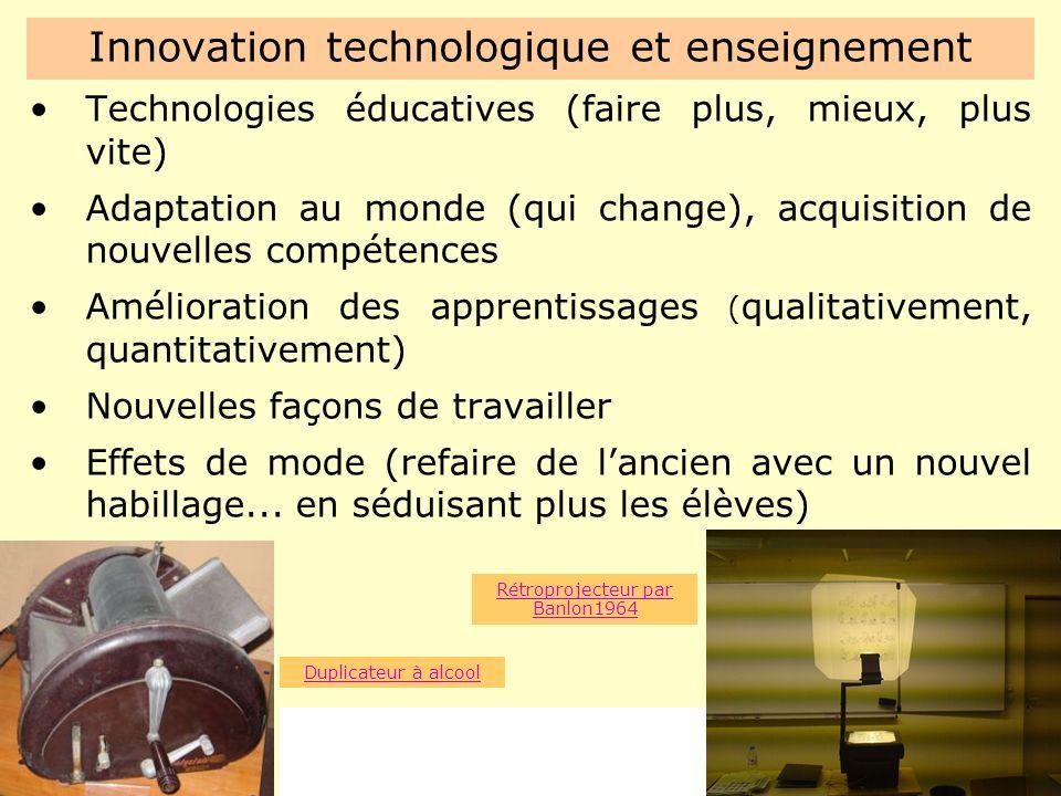 Innovation technologique et enseignement