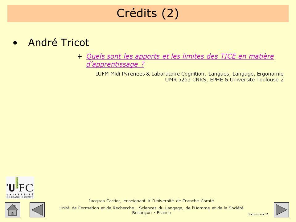 Crédits (2) André Tricot