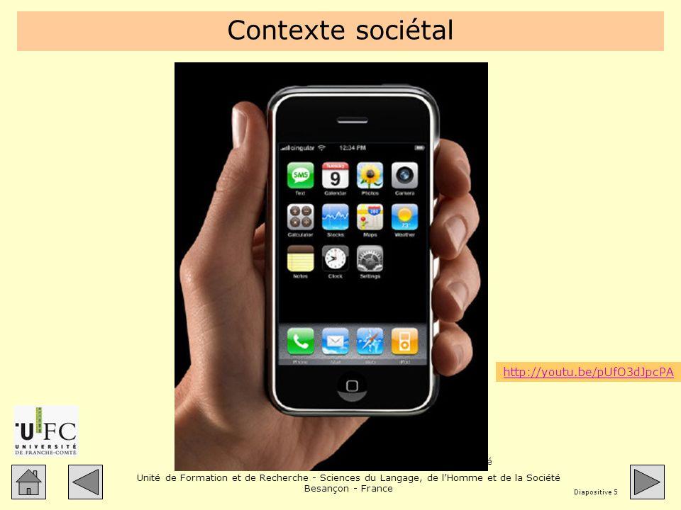 Contexte sociétal Au quotidien chacun est poussé à s'équiper d'outils de communication. Cette publicité le montre.