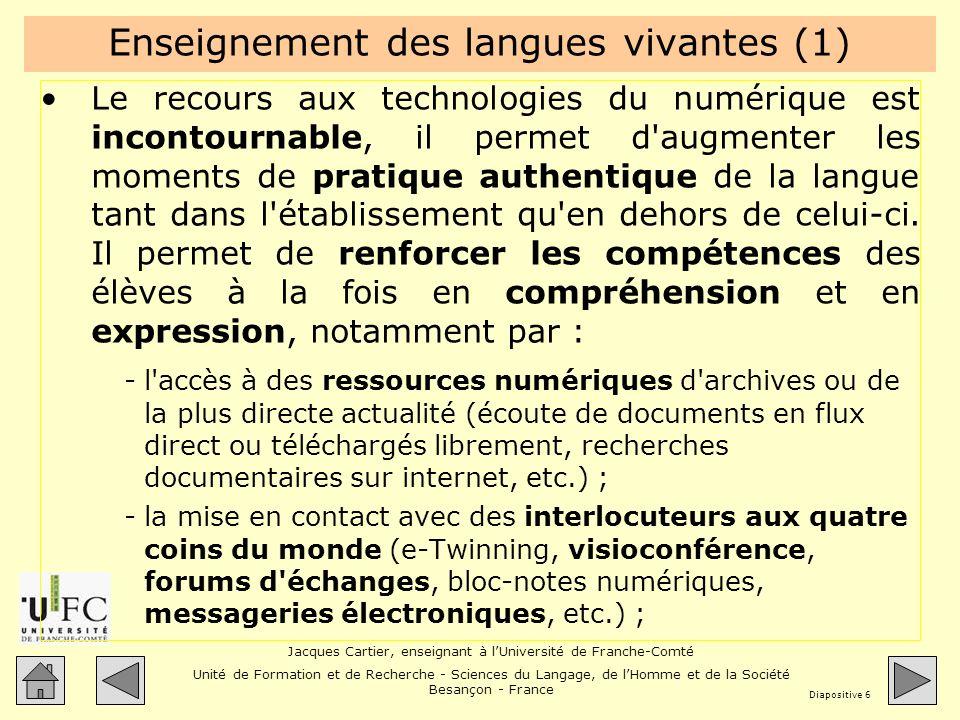 Enseignement des langues vivantes (1)