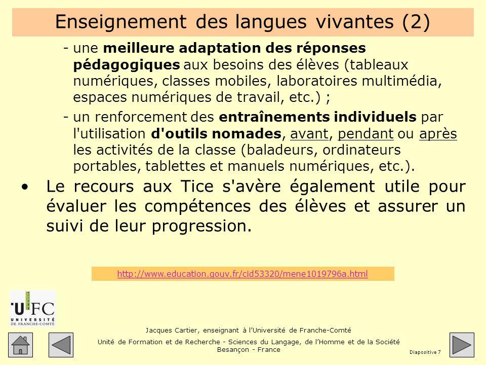 Enseignement des langues vivantes (2)