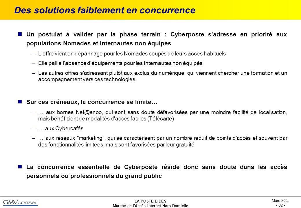 Des solutions faiblement en concurrence