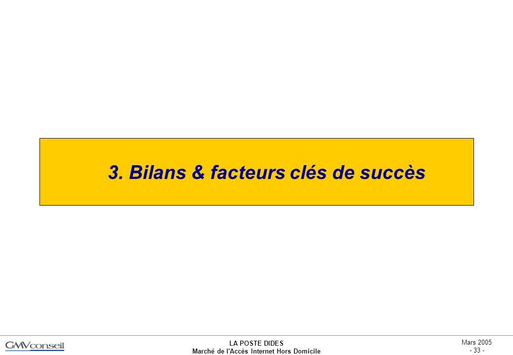 3. Bilans & facteurs clés de succès