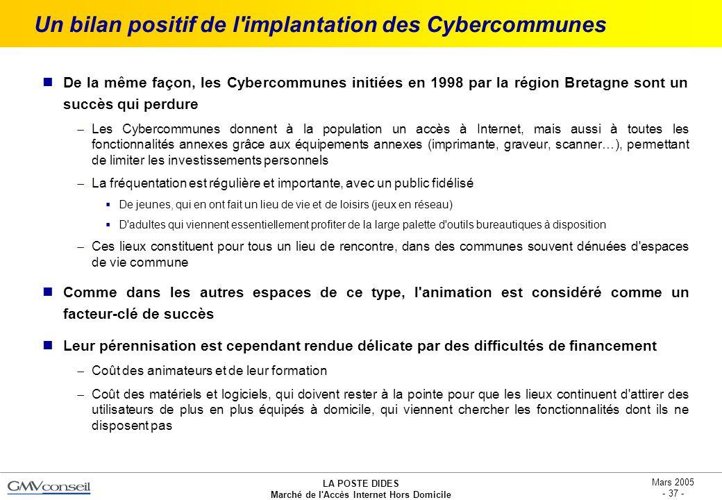 Un bilan positif de l implantation des Cybercommunes