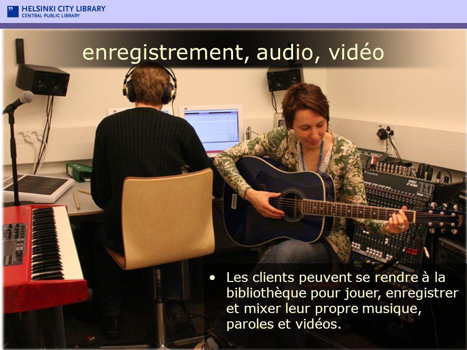 enregistrement, audio, vidéo