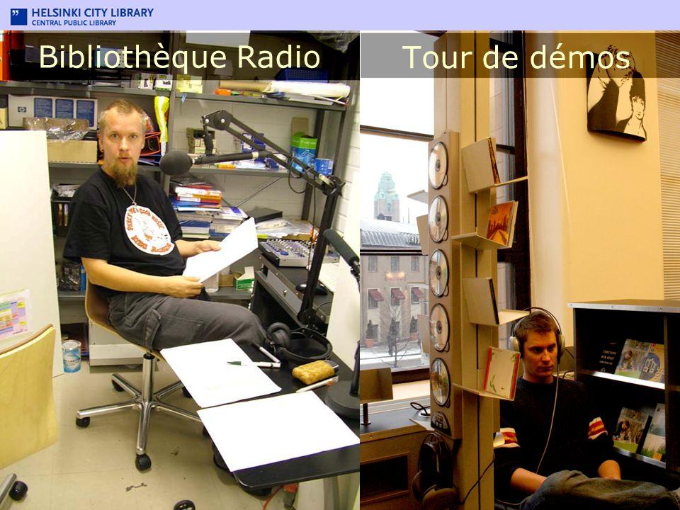 Bibliothèque Radio Tour de démos