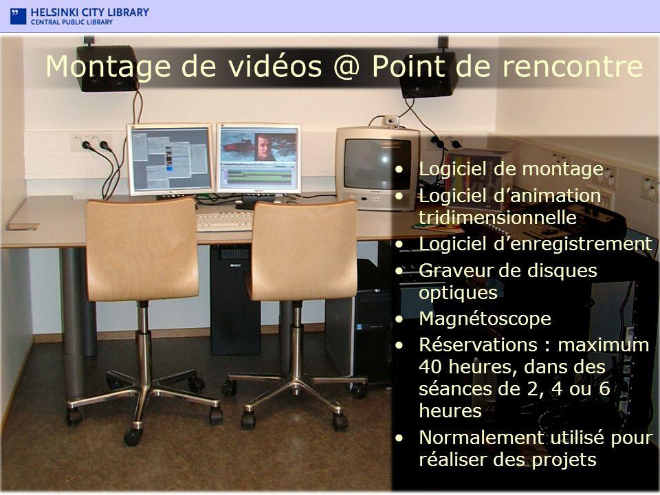 Montage de vidéos @ Point de rencontre