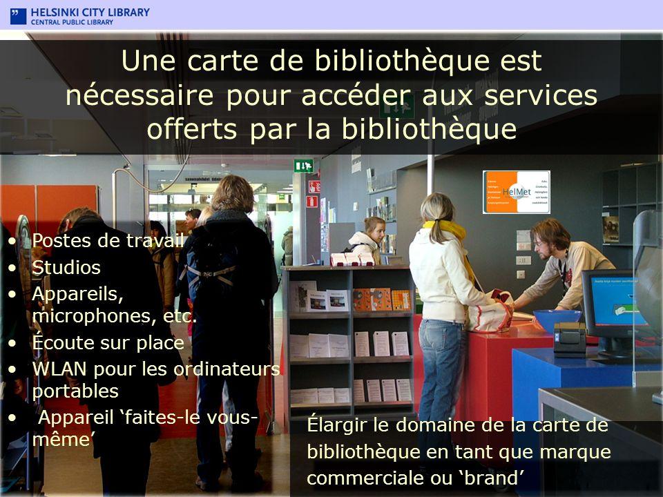 Une carte de bibliothèque est nécessaire pour accéder aux services offerts par la bibliothèque