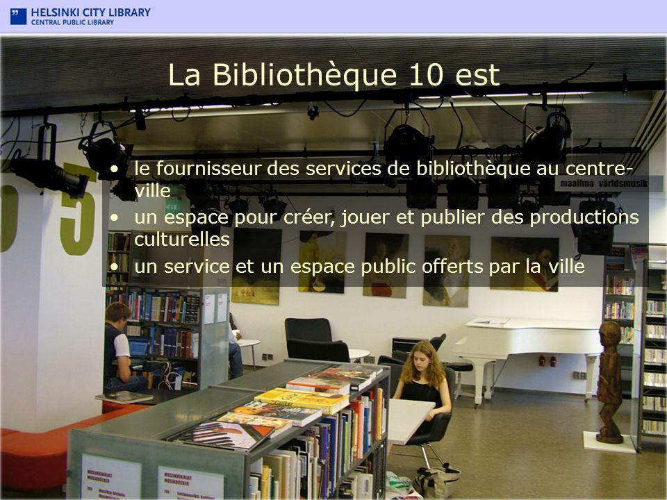 La Bibliothèque 10 est le fournisseur des services de bibliothèque au centre-ville.