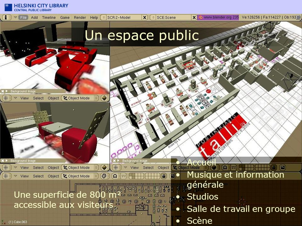 Un espace public Accueil Musique et information générale Studios