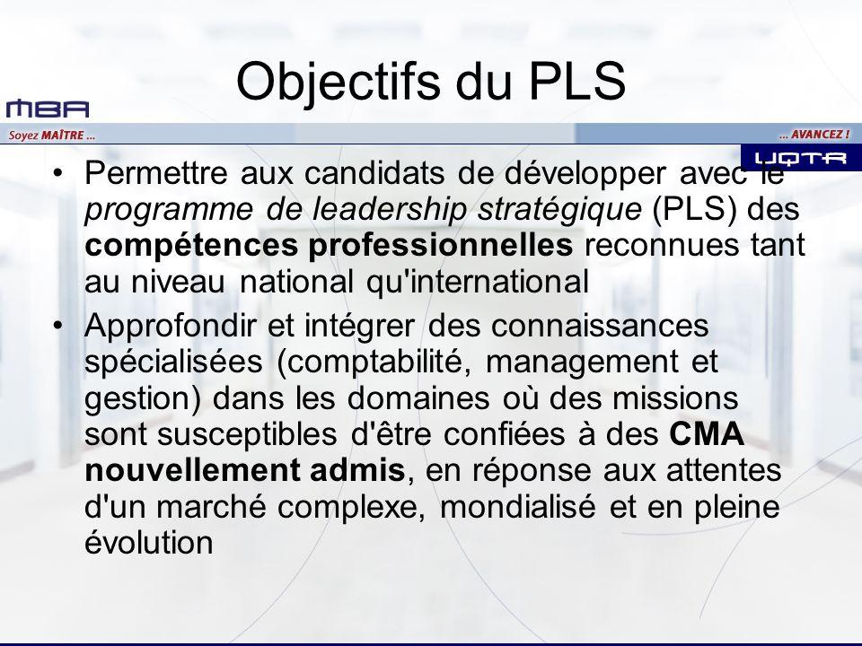 Objectifs du PLS