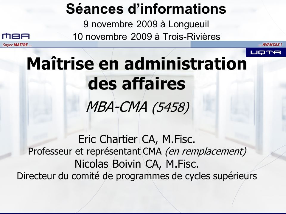 Séances d'informations