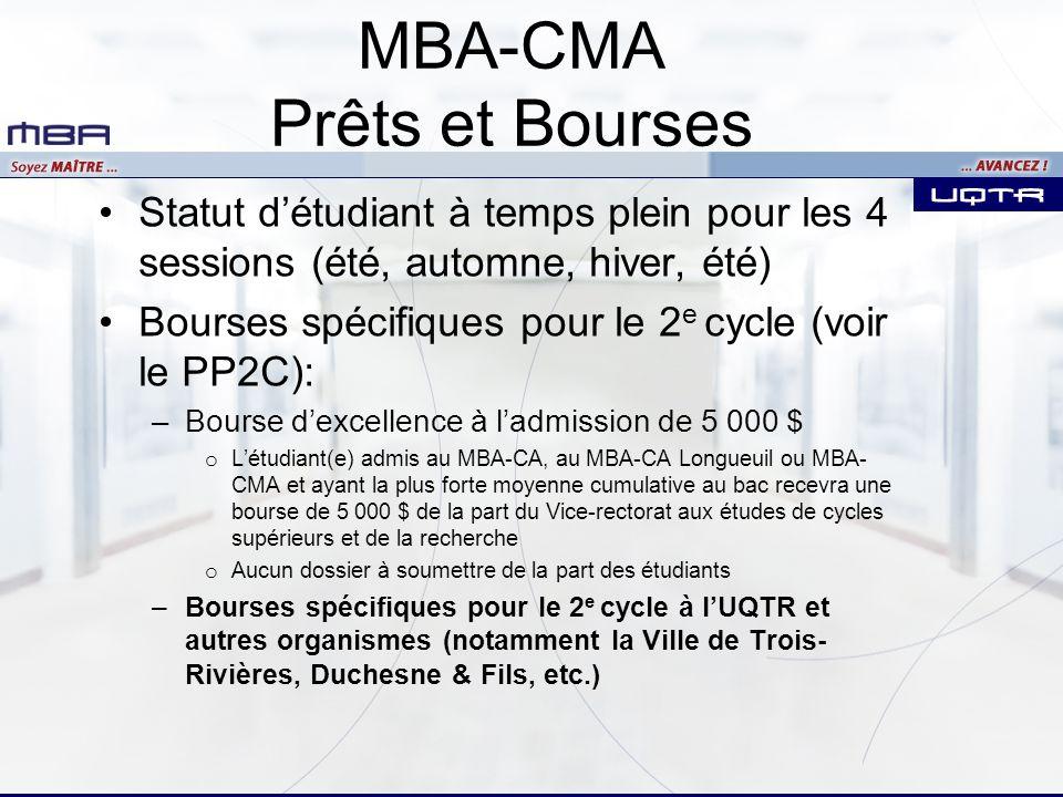 MBA-CMA Prêts et Bourses
