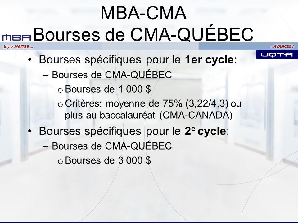 MBA-CMA Bourses de CMA-QUÉBEC