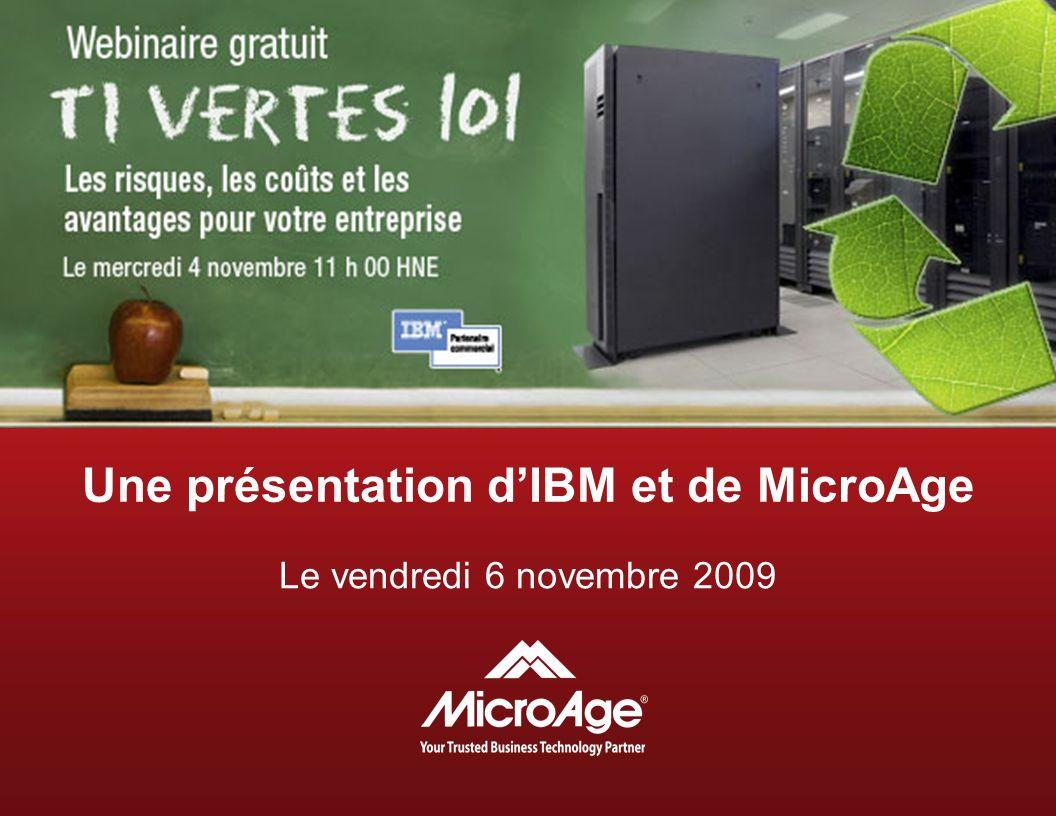 Une présentation d'IBM et de MicroAge