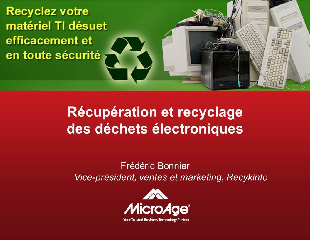 Récupération et recyclage des déchets électroniques