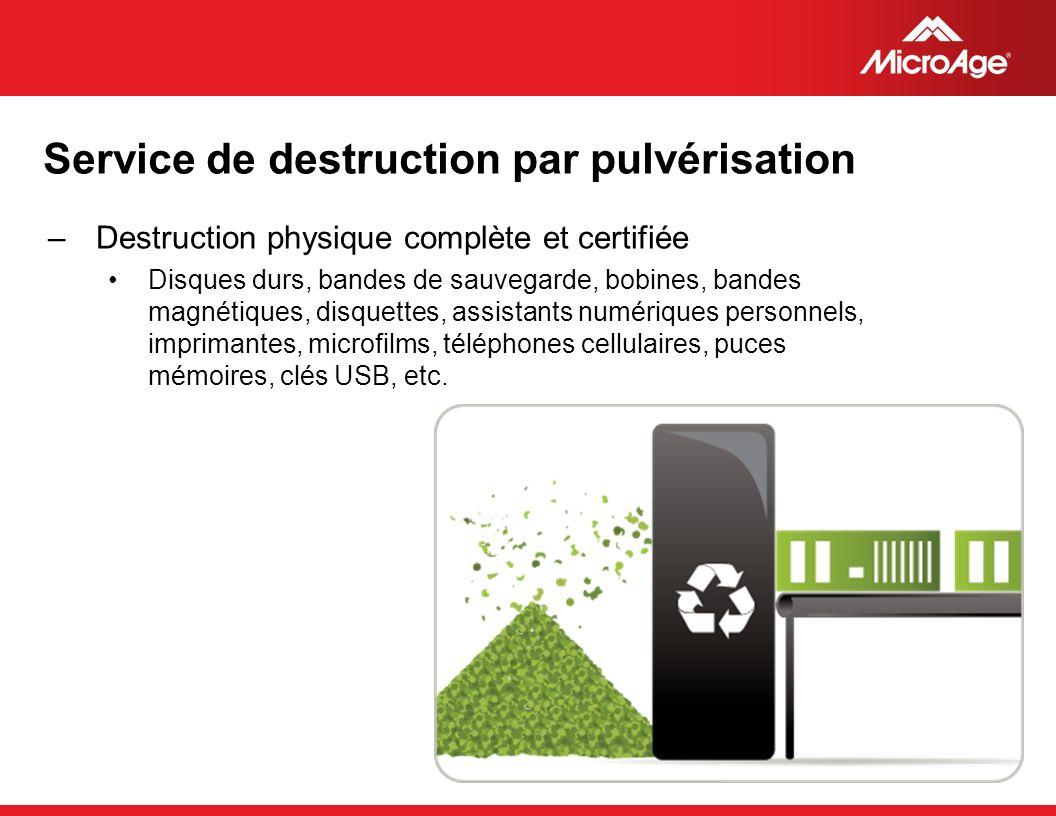 Service de destruction par pulvérisation