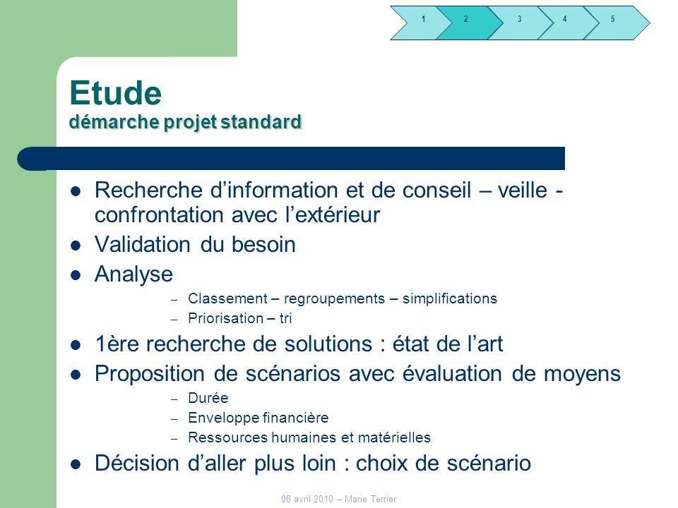 Etude démarche projet standard