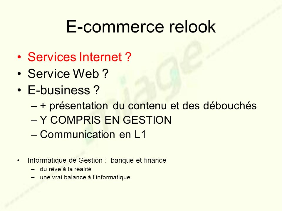E-commerce relook Services Internet Service Web E-business