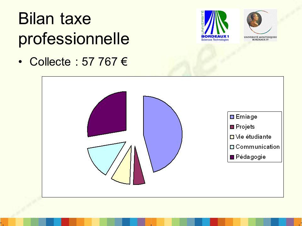 Bilan taxe professionnelle