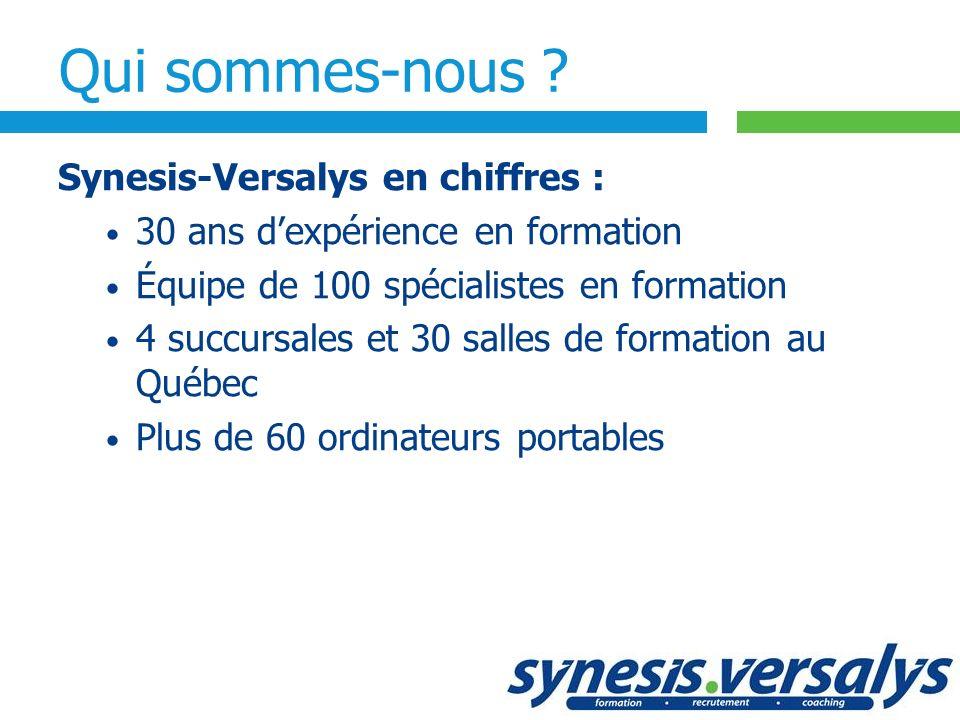 Qui sommes-nous Synesis-Versalys en chiffres :