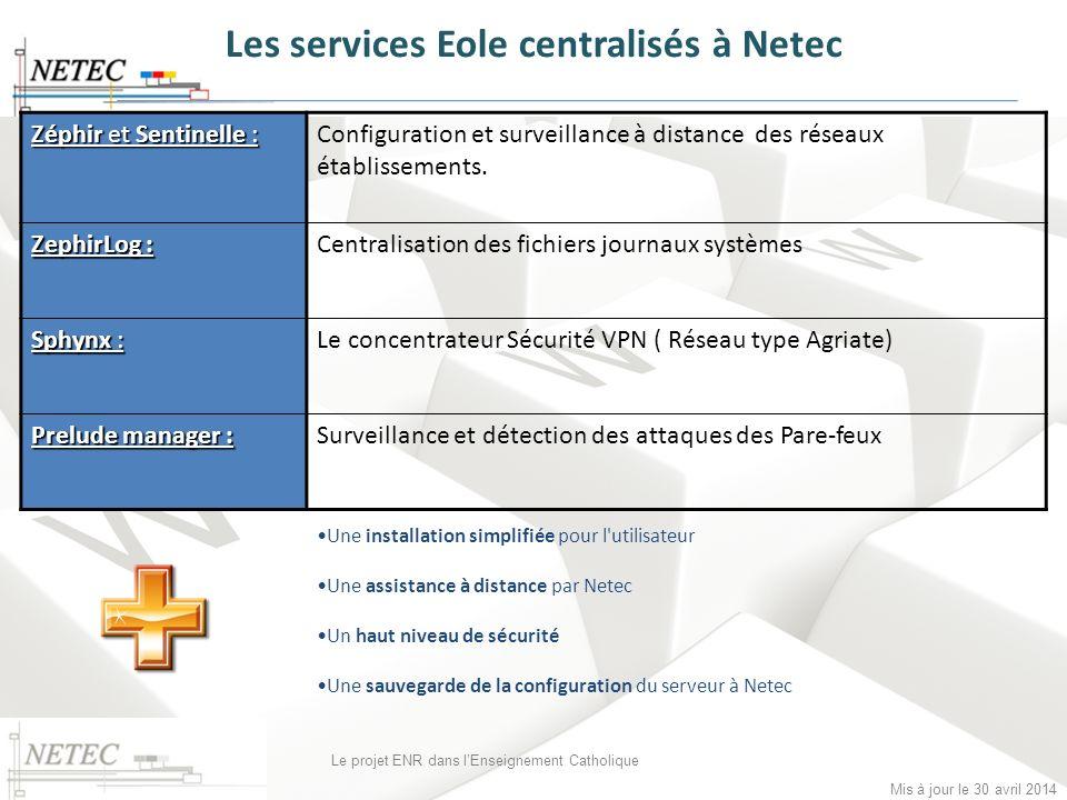 Les services Eole centralisés à Netec