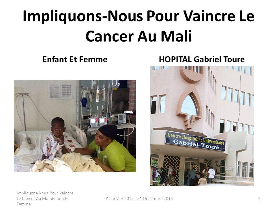Impliquons-Nous Pour Vaincre Le Cancer Au Mali