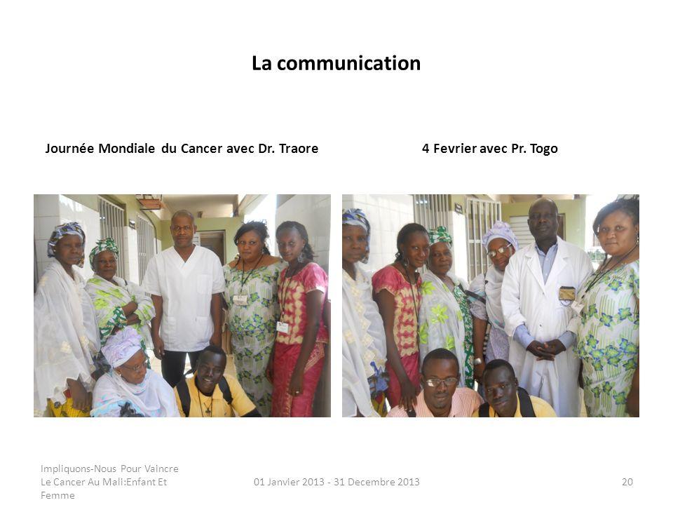 Journée Mondiale du Cancer avec Dr. Traore