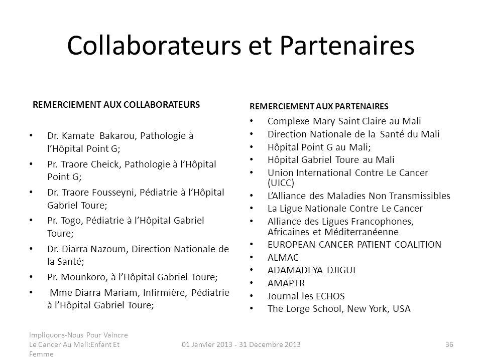 Collaborateurs et Partenaires