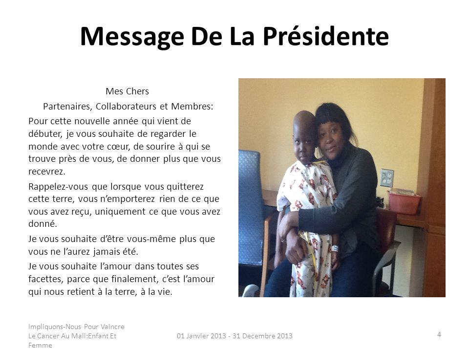 Message De La Présidente