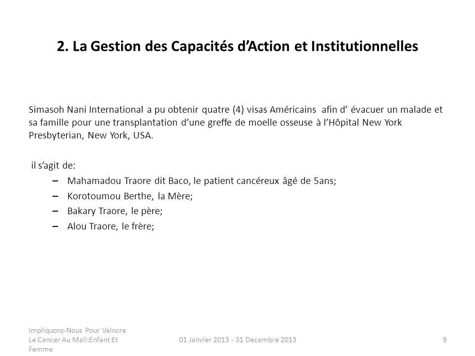 2. La Gestion des Capacités d'Action et Institutionnelles