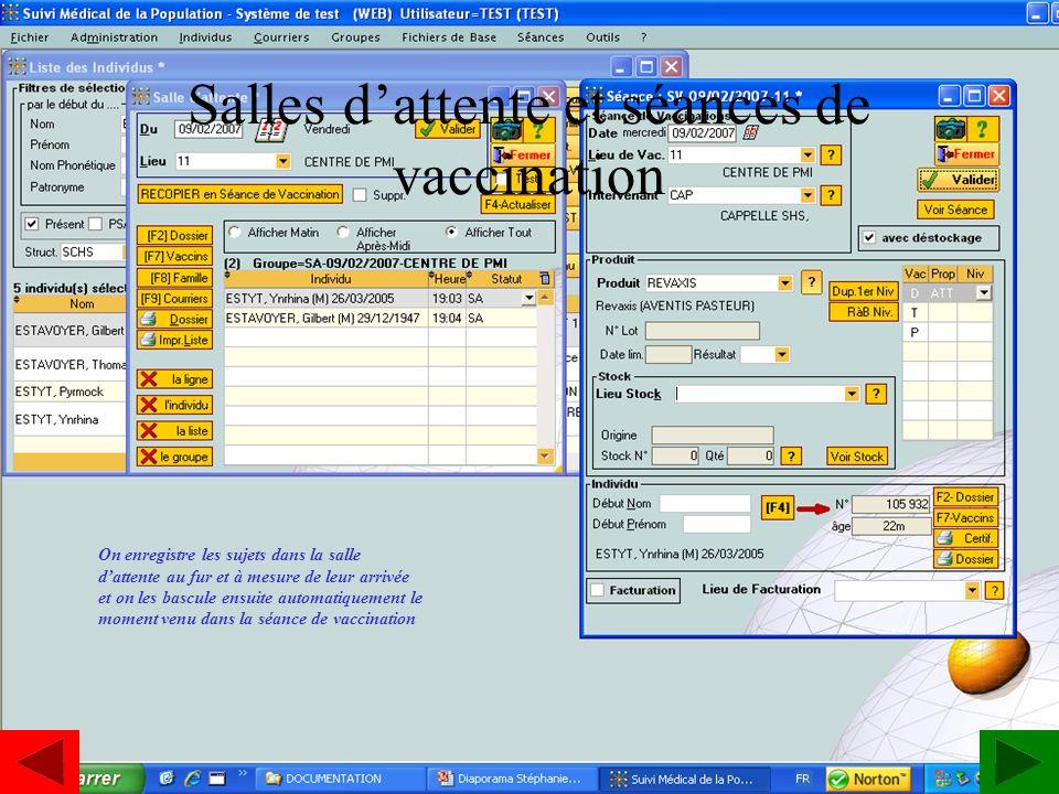 Salles d'attente et séances de vaccination