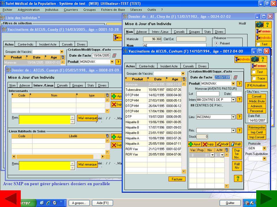 SMP Dossiers en parallèle