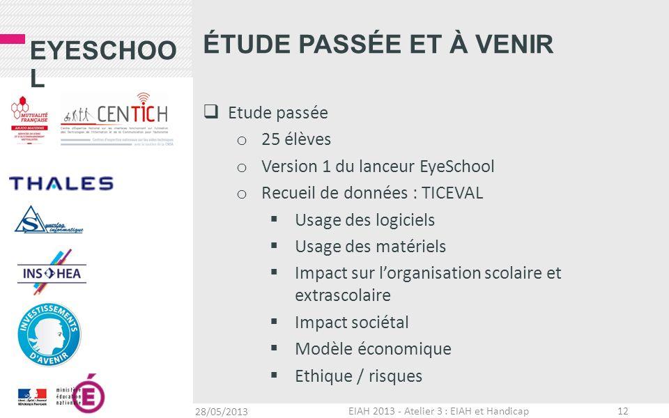 EIAH 2013 - Atelier 3 : EIAH et Handicap