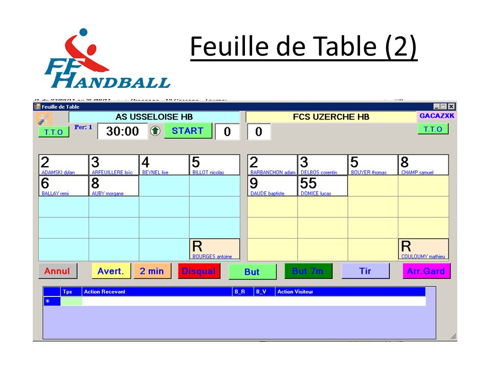 Feuille de Table (2)