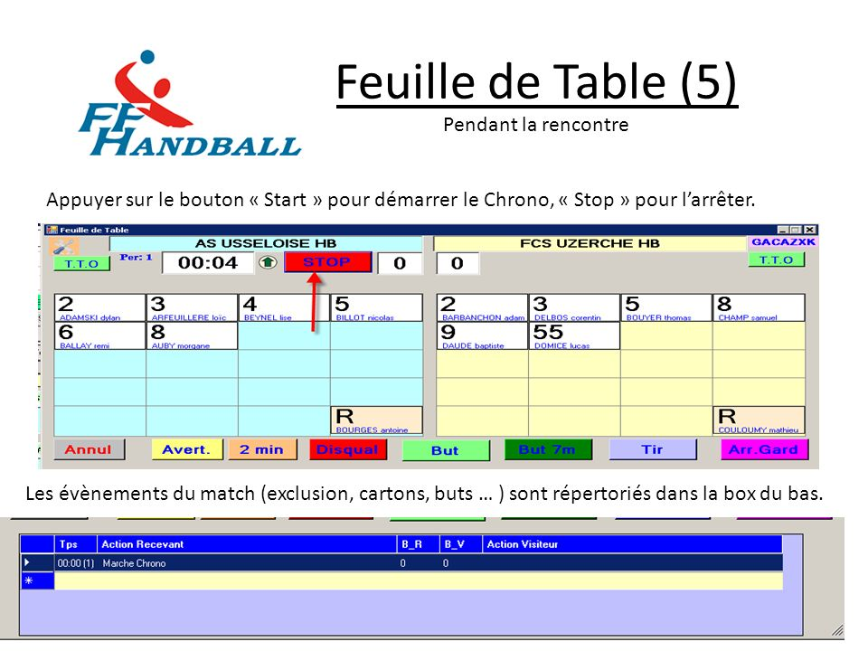 Feuille de Table (5) Pendant la rencontre