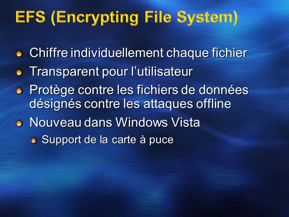 EFS (Encrypting File System)