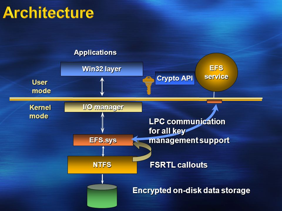 Encrypted on-disk data storage