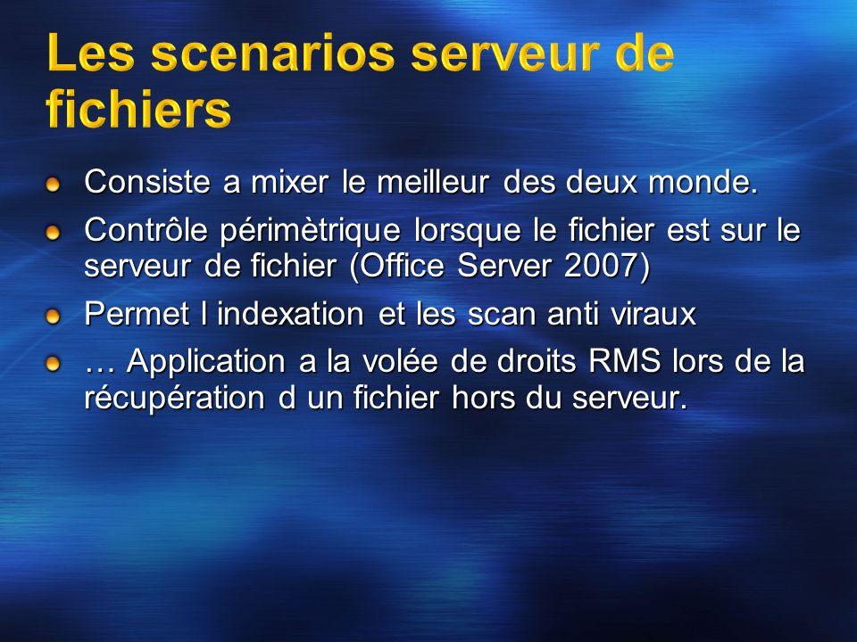 Les scenarios serveur de fichiers