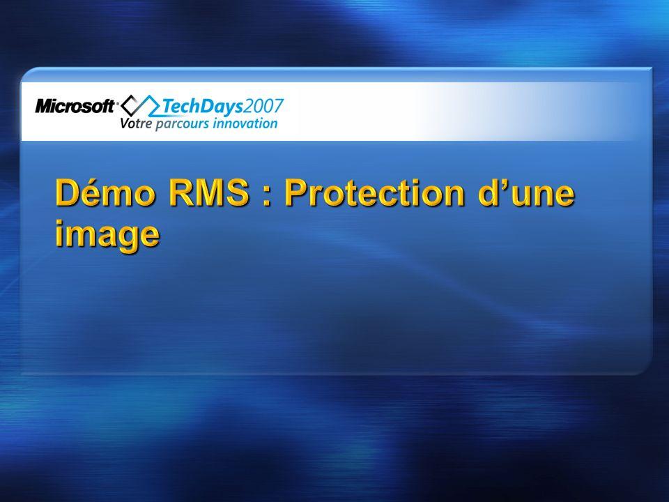 Démo RMS : Protection d'une image